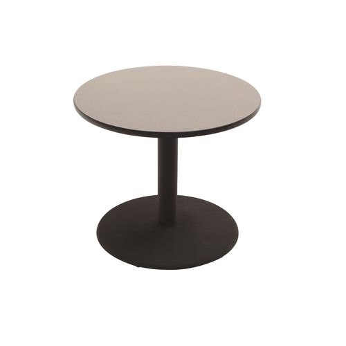 Our Round Laminate Top Table with Pedestal Cast Iron Base - 48