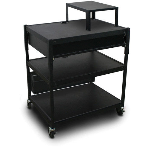 Our Spartan Series Adjustable Cart with One Pull-Out Front-Shelf and Expansion Shelf - Black is on sale now.