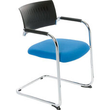 Teo Sled Base Stacking Chair with Poly Back