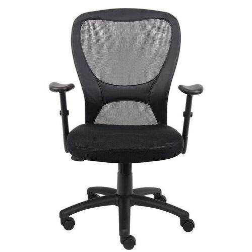 Budget Mesh Task Chair with Adjustable Height Armrest - Black