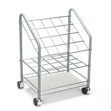 Safco® Wire Roll/File - 20 Compartments - 18w x 12-3/4d x 24-1/2h - Gray