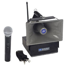 Wireless Half-Mile 50 Watt Hailer with Handheld Microphone - 12