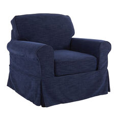 Ave Six Ashton Chair with Slip Cover - Navy