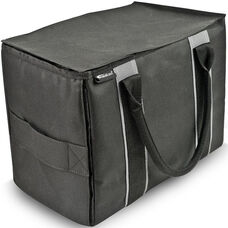 Durable Mini File Tote - Black and Gray