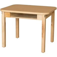 Classroom High Pressure Laminate Desk with Hardwood Legs - 24