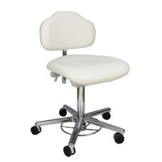 Stera II Clean Room Chair with Self-Braking Casters and Foot Pump Release - Low Profile