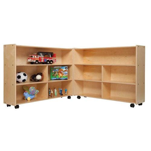 Mobile Folding Versatile Baltic Birch Plywood Storage Unit with Tuff-Gloss UV Finish - 93.5
