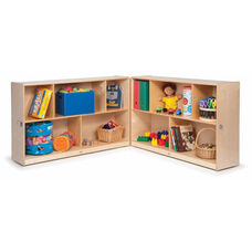 Multi-Purpose Birch Laminate Toddler Fold & Roll Storage Cabinets