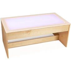 Large Wooden Multicolored LED Light Table with Acrylic Top - 42.5