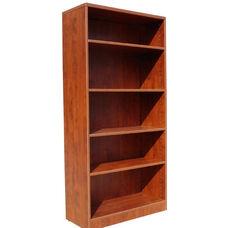 Five Shelf Open Bookcase - Cherry