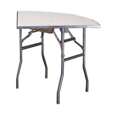 Standard Series Quarter Round Folding Banquet Table with Aluminum Edge and Mayfoam Top - 36