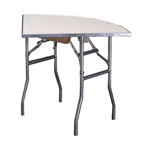 Our Standard Series Quarter Round Folding Banquet Table with Aluminum Edge and Mayfoam Top - 36