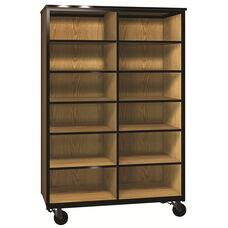 Denali 1000 Series Mobile Cubicle Storage w/ 10 Adjustable Shelves