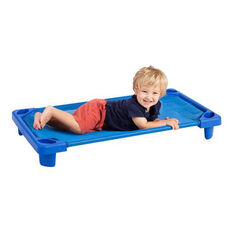 Blue Fully Assembled Single Toddler Stackable Streamline Cot - 40