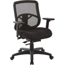 Pro-Line II ProGrid Mesh Back Task Chair with Padded Fabric Seat