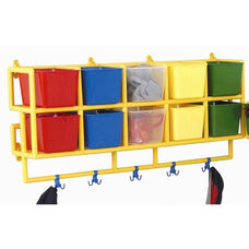 10 X-Size Multicolor Wall Hung Cubbie Coat Center