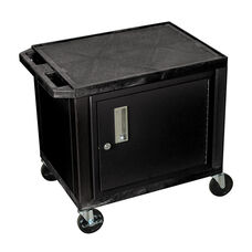Black Tuffy Plastic Cart with Cabinet