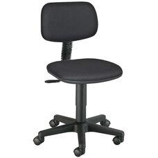 Adjustable Height Varsity Task Chair - Black