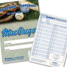 MacGregor® Baseball and Softball Line-Up Card Booklet