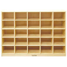 Birch 25 Cubby Tray Cabinet with 12
