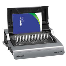 Fellowes® Galaxy Electric Comb Binding System - 500 Sheets - 19 5/8 x 17 3/4 x 6 1/2 - Gray