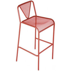 Venice Beach Micro Mesh Stacking Barstool - Grenadine