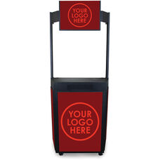 Vizion Event Booth with Graphic Frame Marquee Header - Black