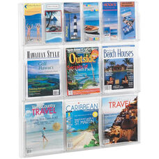Reveal™ Six Magazine and Six Pamphlet Thermoformed Display - Clear