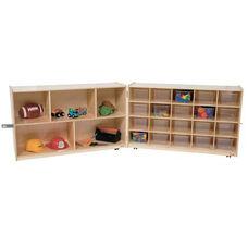 20 Tray and Shelf Folding Storage Unit with Twenty Clear Storage Trays - 48-96