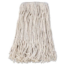 Boardwalk® Banded Cotton Mop Head - #24 - White - 12/Carton