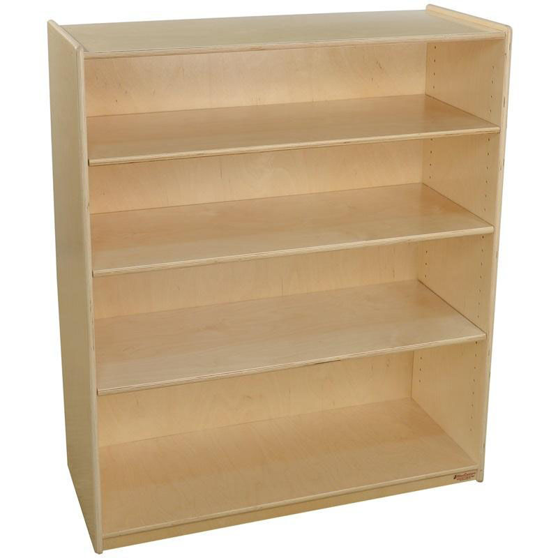 ... Our Wooden 4 Shelf Bookcase With 3 Adjustable Shelves   36u0027u0027W X 15