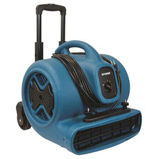 P-630HC Lightweight 3 Speed Professional Air Mover with Telescopic Handle, Wheels, and Carpet Clamp