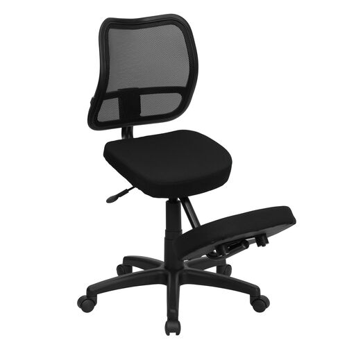 Our Mobile Ergonomic Kneeling Swivel Task Office Chair with Black Mesh Back and Fabric Seat is on sale now.