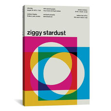 Ziggy Stardust at Rainbow Theatre: August 19th, 1972 by Swissted Gallery Wrapped Canvas Artwork