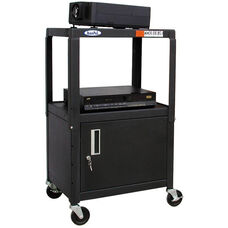 Height Adjustable Steel AV Cart & Cabinet