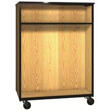 Denali 1000 Series Mobile Double Faced Combo Unit w/ 13 Double Hooks & 1 Adjustable Shelf