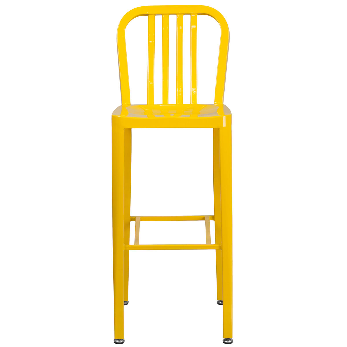 30 yellow metal outdoor stool ch 61200 30 yl gg for Furniture 4 schools