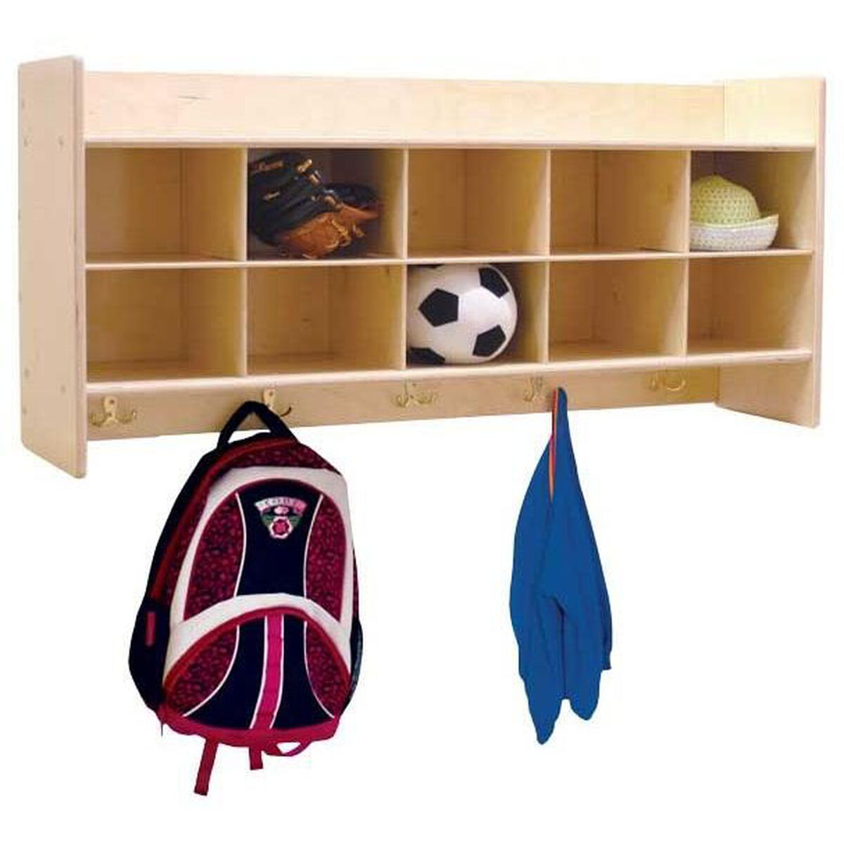 Our Wall Mountable Baltic Birch Plywood Coat Locker Cubby Storage Unit With Tuff Gloss