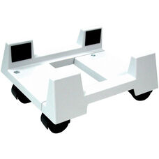 Econo Mobile CPU Stand - White
