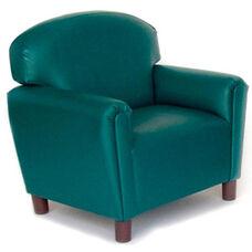 Just Like Home Preschool Size Overstuffed Vinyl Chair - Teal - 26