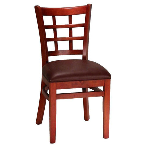 Our Mahogany Window Back Wood Chair is on sale now.
