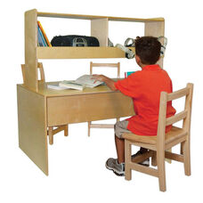 Listening Center with Child Sized Work Station and 2 Upper Storage Compartments - 48