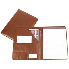 Writing Padfolio Document Organizer - Colorado Old Bonded Leather - Tan