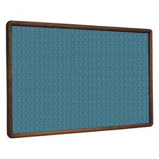 2600 Series Tackboard with Bullnose Wood Face Frame - Designer Fabric - 36