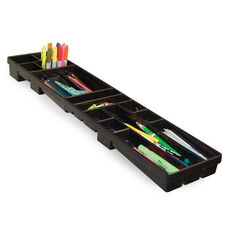 Optima 16 Divided Compartments Art Tray with Side Mounts - Black