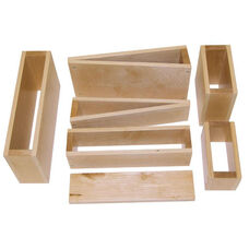 18 Piece Over-Sized Hollow Wooden Blocks Set - Variety of Shapes and Sizes