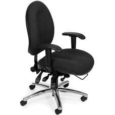 24 Hour Big & Tall Computer Task Chair - Charcoal