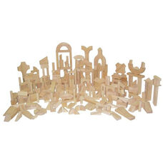 Classroom Set of Three Hundred Seventy Two Multi-Shaped Hard Maple Blocks