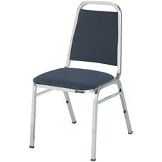 800 Series Stacking Armless Hospitality Chair with Trapezoid Back and 1.5'' Upholstered Dome Seat