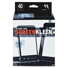 Read/Right Alcohol-Free Lcd Screenkleen Wipes - Pack Of 40
